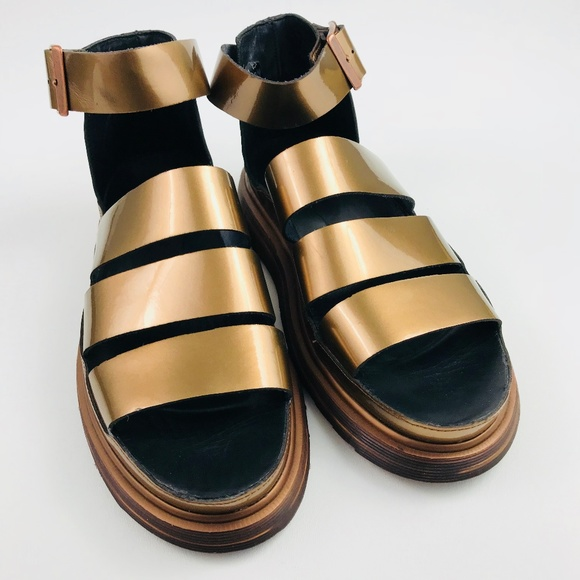 0ab1da2cc5a Dr. Martens Shoes - Dr. Martens Clarissa Chunky Strap Sandal Pewter 9